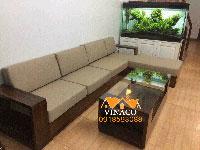 Bộ đệm ghế sofa L vải thô 10cm tại Nguyễn Phong Sắc
