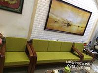 Bộ đệm ghế xanh cốm cho gia đình ở Hai Bà Trưng Hà Nội