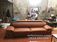 Bộ ghế sofa da thật ở Hải Dương - Bọc lại ghế sofa
