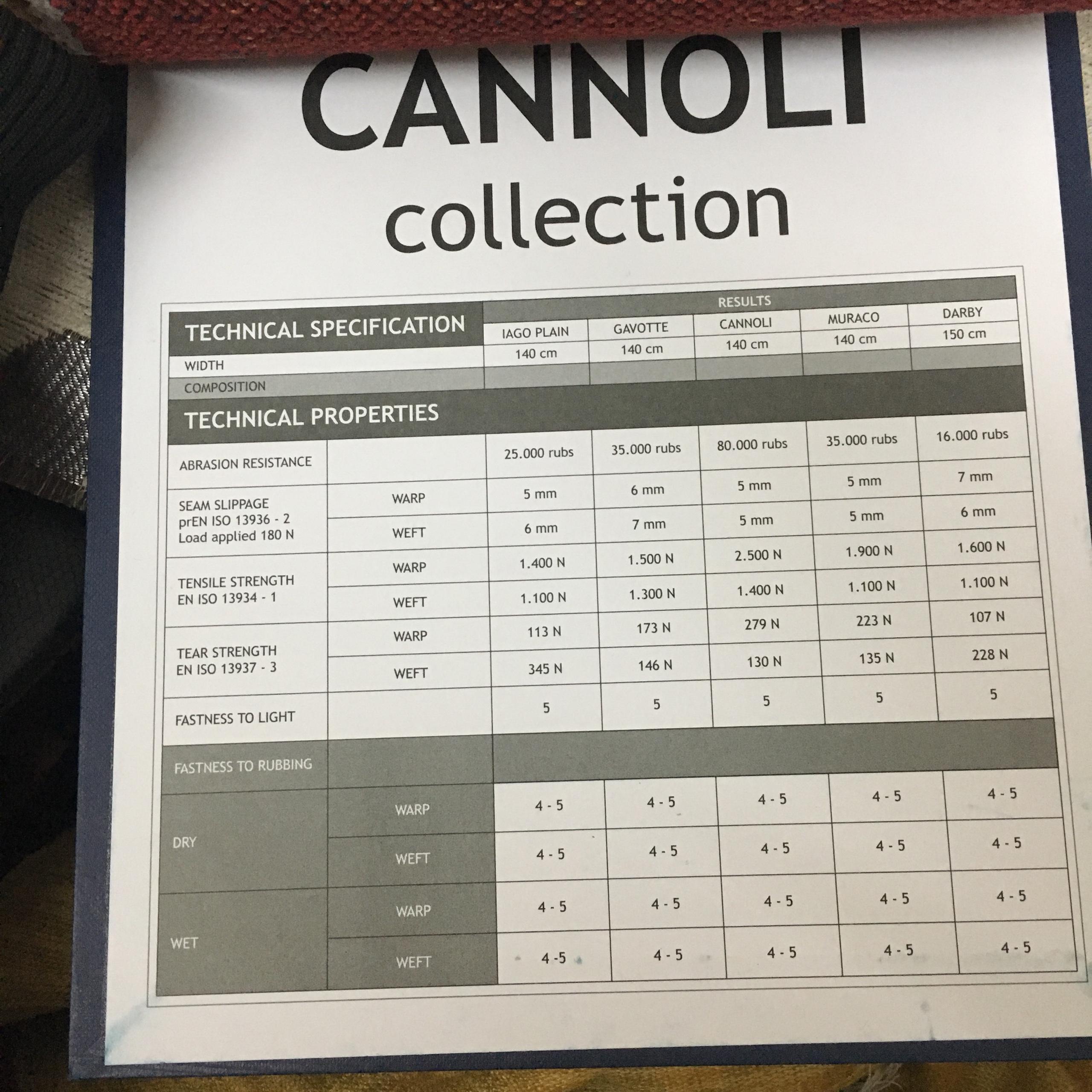 Bộ sưu tập Vadela Cannoli - vải thô Indo