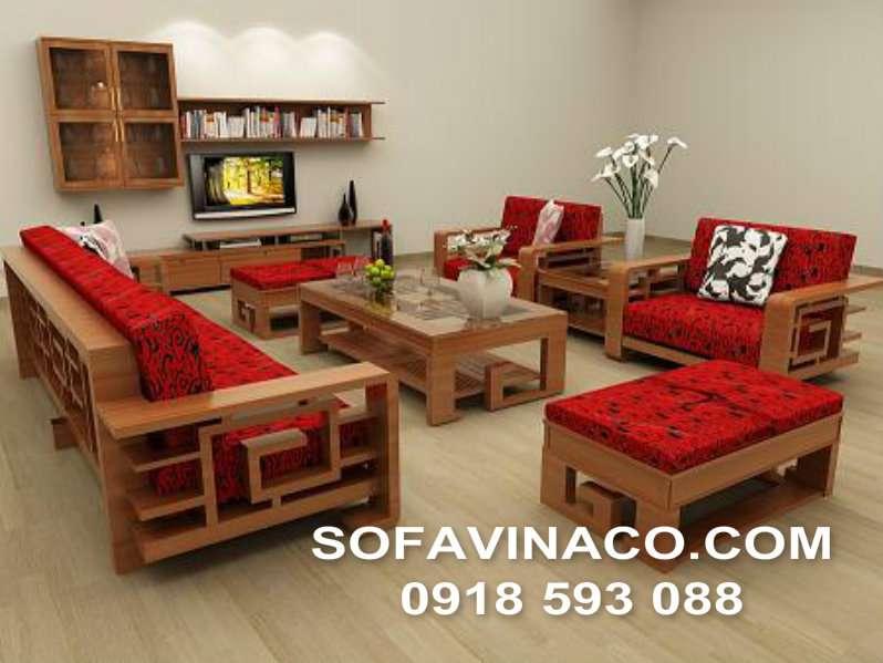 Bọc đệm ghế sofa gỗ 01