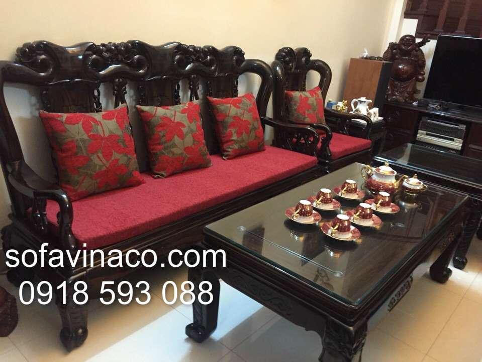 Bọc đệm ghế sofa giả cổ nhà Cô Luyến - Ngọc Hồi