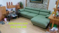 Bọc ghế sofa da nhà chị Hạnh tại khu đô thị Xa La - Hà Đông