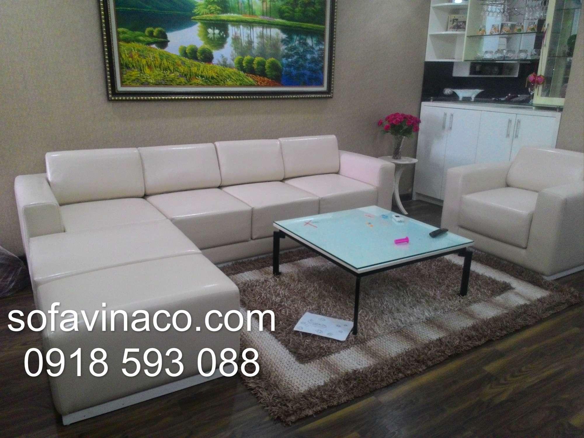 Bọc ghế sofa da nhà Chị Hoa - FLC Mỹ Đình