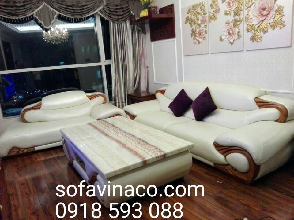 Bọc ghế sofa da nhà chị Huyền tại Keangnam, Mễ Trì, Cầu Giấy, Hà Nội