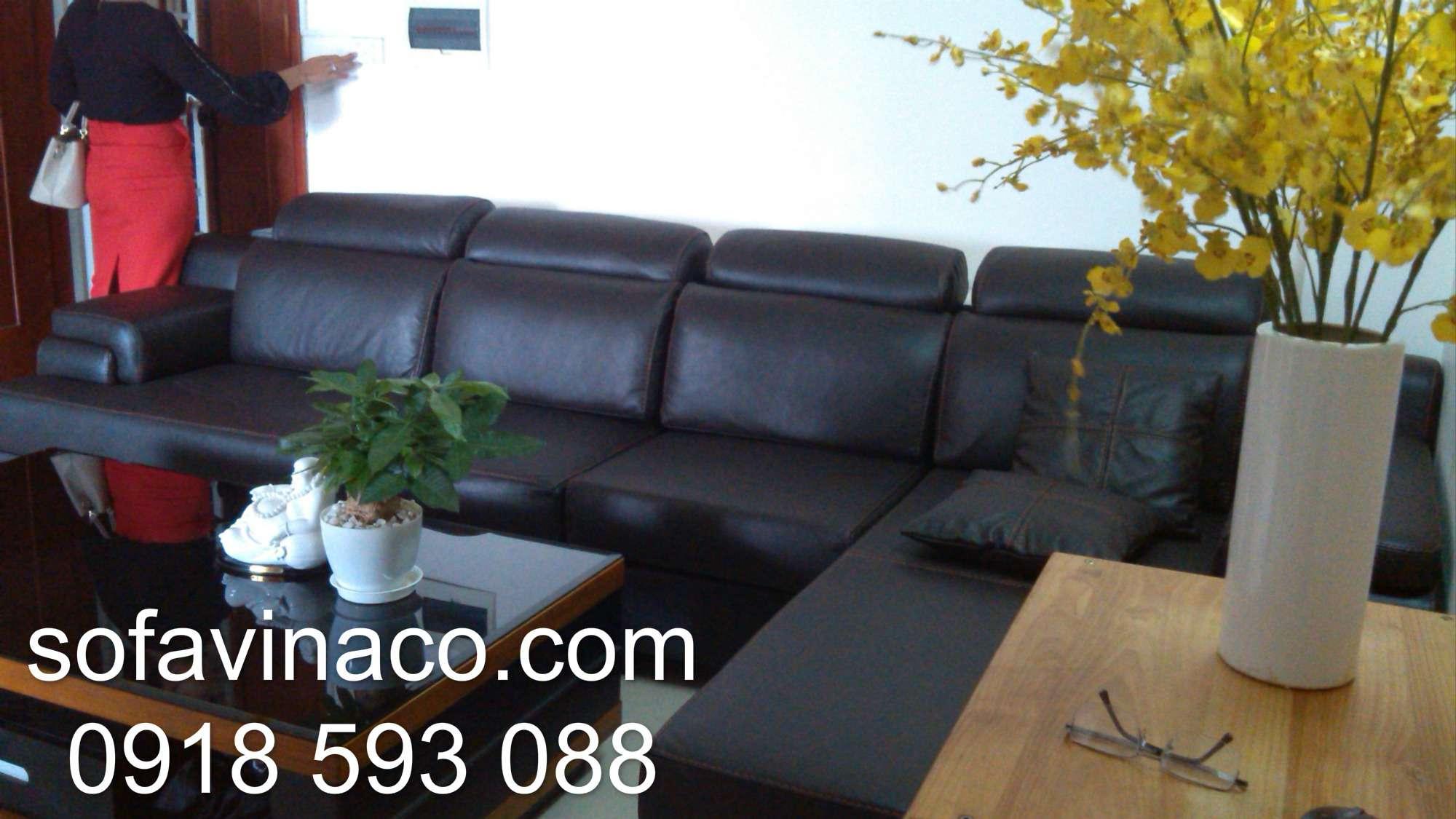 Bọc ghế sofa da thật nhà Chú Vũ - Xuân Đỉnh
