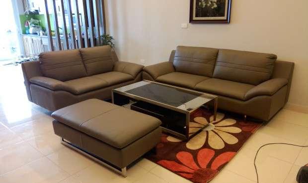 Bọc ghế sofa da thật với chất liệu từ Ý