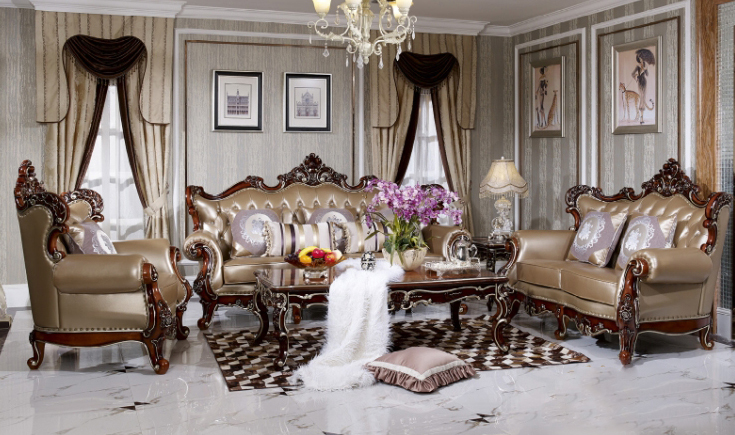 Bọc ghế sofa da theo phong cách cổ điển