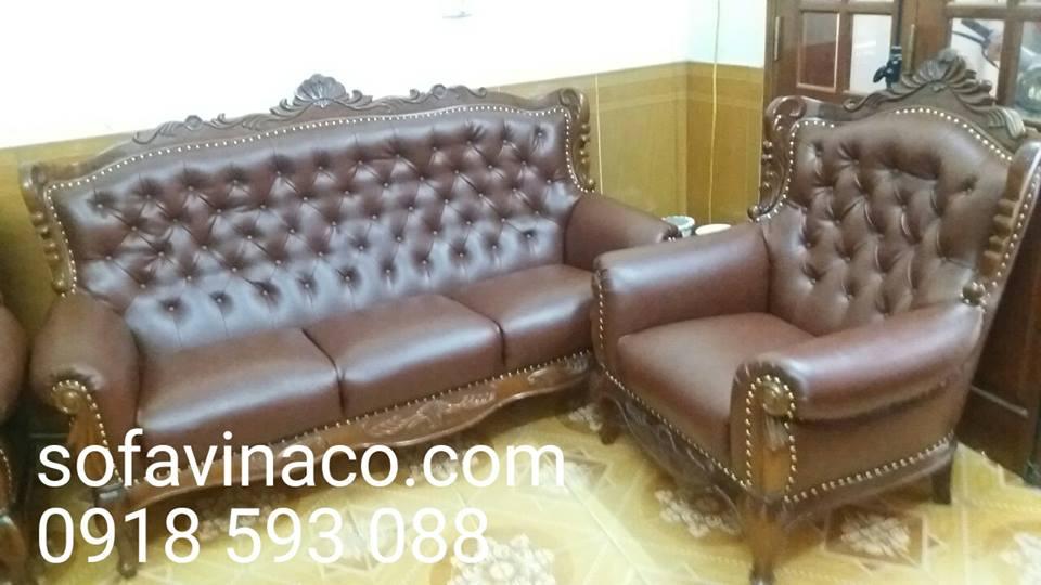Bọc ghế sofa nhà bác Ngữ tại phố Thái Thịnh - Đống Đa