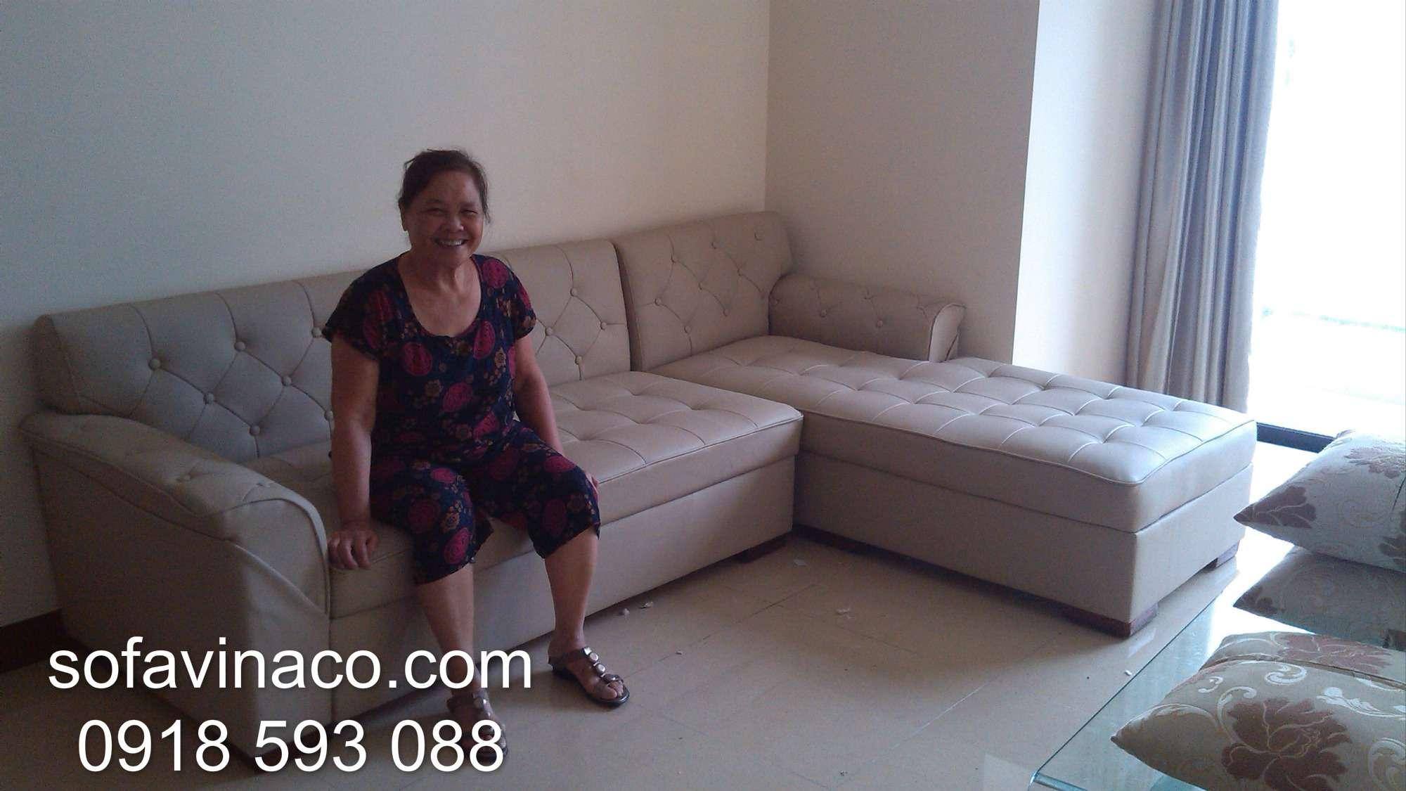 Bọc ghế sofa nhà Bác Thành Royalcity - Thanh Xuân - Hà Nội