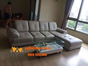 Bọc lại ghế sofa da tại nhà anh Dũng ở Hyundai Hà Đông