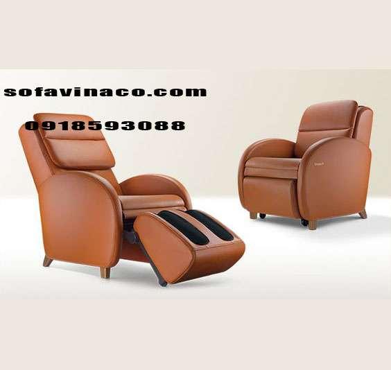 Bọc lại ghế sofa massage nội địa nhật da bò thật