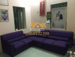 Bọc lại sofa nỉ tại nhà anh Ngọc, Phú Diễn, Từ Liêm