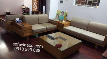 Đệm ghế sofa gỗ cao cấp tại Hải Phòng