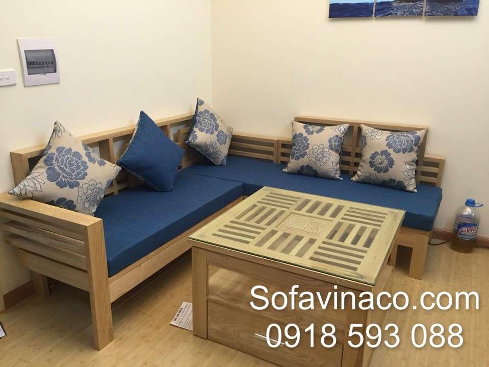 Đệm ghế sofa gỗ tại HH4A - Linh Đàm