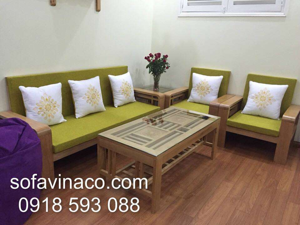 Đệm ngồi ghế sofa gỗ 0111