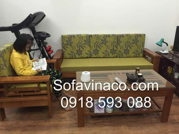 Đệm ngồi ghế sofa gỗ 0112