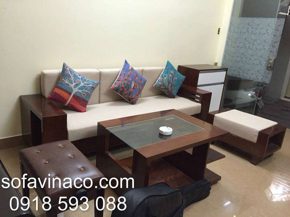 Đệm ngồi ghế sofa gỗ 0311