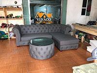 Đóng ghế sofa cổ điển cho khách hàng tại Trung Hòa, Cầu Giấy, Hà Nội