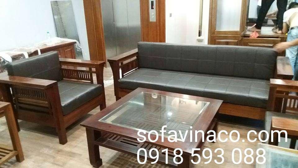 Làm đệm ghế sofa gỗ tại sofa vinaco