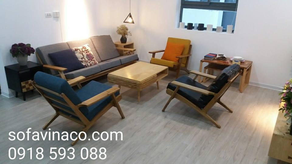Làm đệm ghế sofa gỗ thư giãn