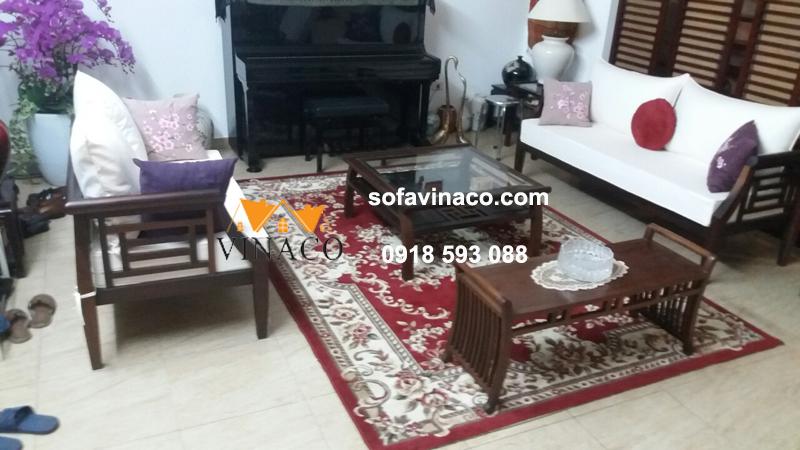 Làm đệm ghế sofa gỗ và đệm ghế ăn tại Võng Thị, Tây Hồ