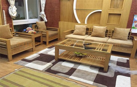 Làm đệm ghế sofa gỗ vải nỉ nhung