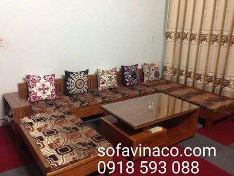 Mẫu đệm ghế sofa gỗ tại hà nội