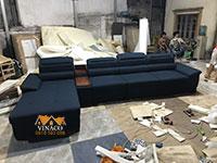Mẫu ghế sofa L kiểu dáng đơn giản thanh lịch mới đóng