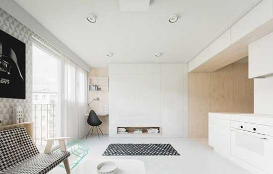 Mẫu thiết kế nội thất nhà ở nhỏ 20m2 cho cặp vợ trồng trẻ