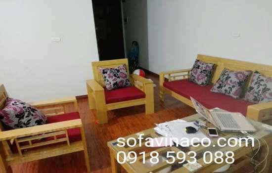 Nệm nỉ cho ghế sofa gỗ giá rẻ