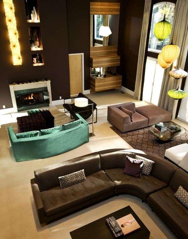 Nội thất biến hóa hiện đại cùng sofa màu ngọc lam