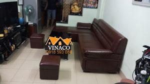 Thay đổi màu sắc mới cho bộ ghế sofa da ở Khâm Thiên