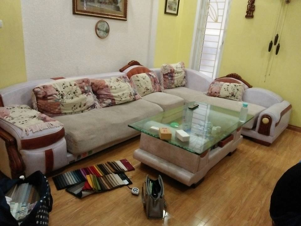 Thay lại mút và bọc vỏ đệm sofa tại Khu Đô Thị mới Định Công