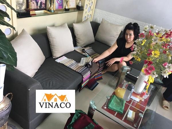 Thay màu ghế cho nhà chị Hiền ở phố Nguyễn Chí Thanh
