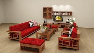 May vỏ đệm ghế gỗ