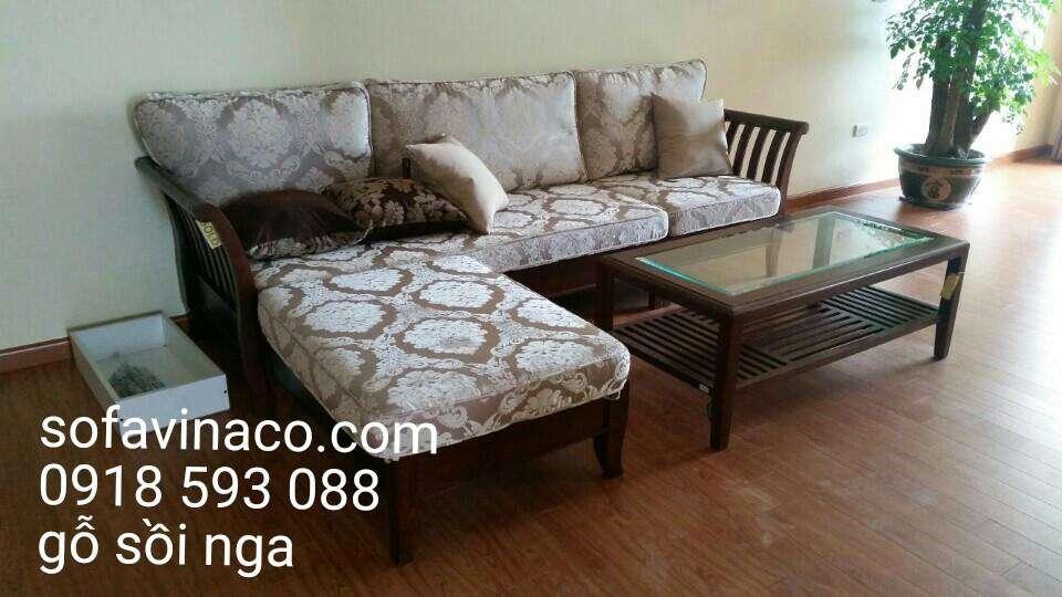 Bộ bàn ghế sofa gỗ sồi nga