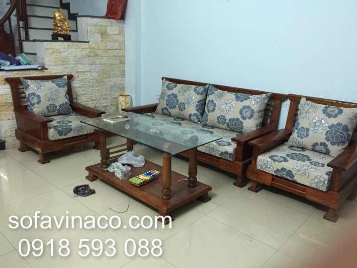 Bộ đệm ghế sofa nhà Chị Thủy Vũ Xuân Thiều Gia Lâm