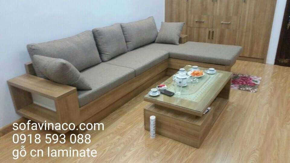 Bộ ghế sofa gỗ công nghiệp
