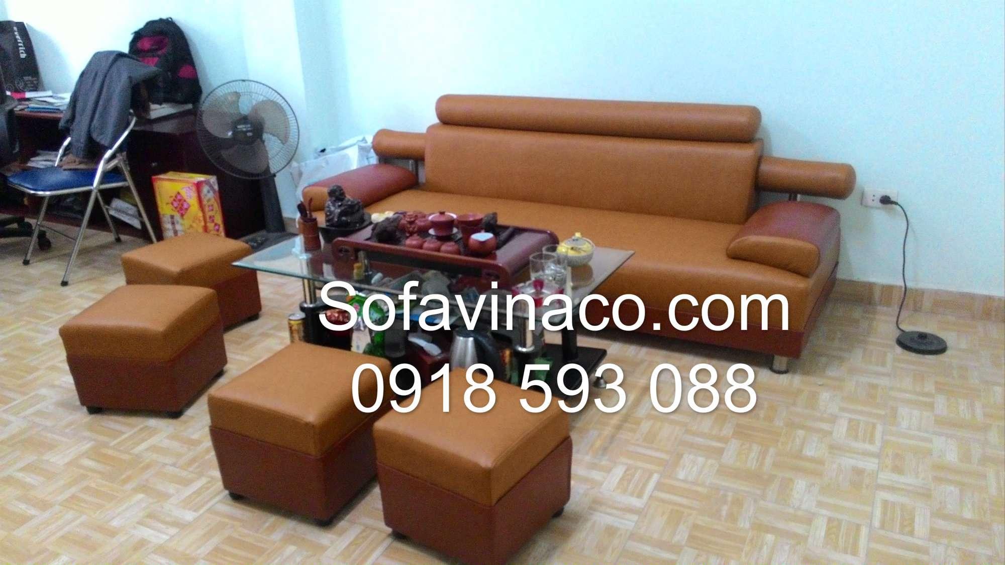 Bọc ghế sofa da 0115