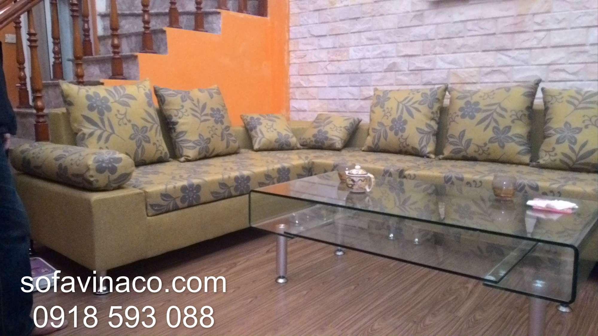 Bọc ghế sofa góc 0309 tại Hoàng Quốc Việt Cầu Giấy Hà Nội