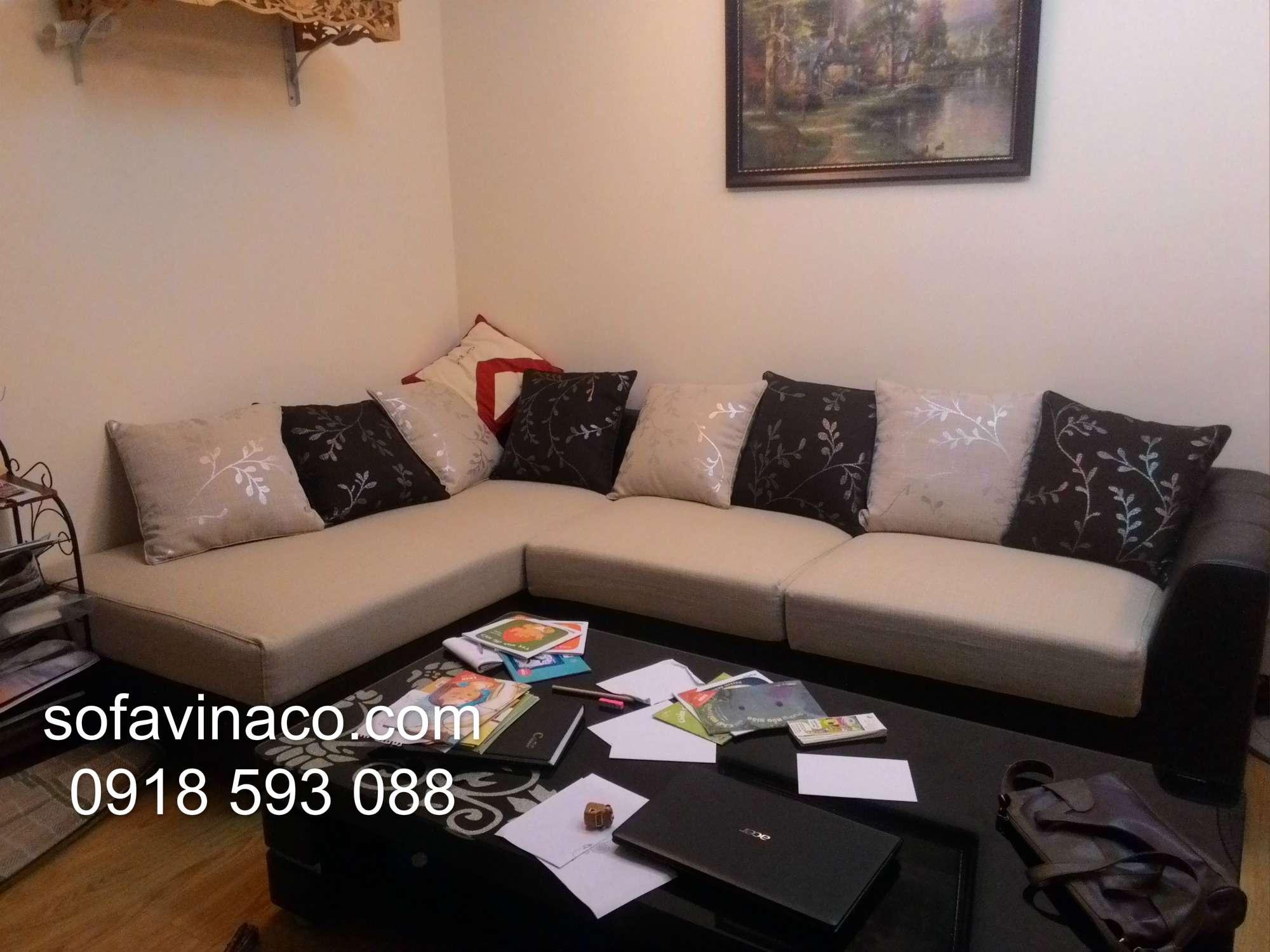 Bọc ghế sofa góc 0409 tại Minh Khai- Hai Bà Trưng- Hà Nội