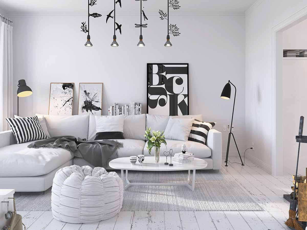 Bọc ghế sofa màu trắng và cách giữ chúng luôn mới