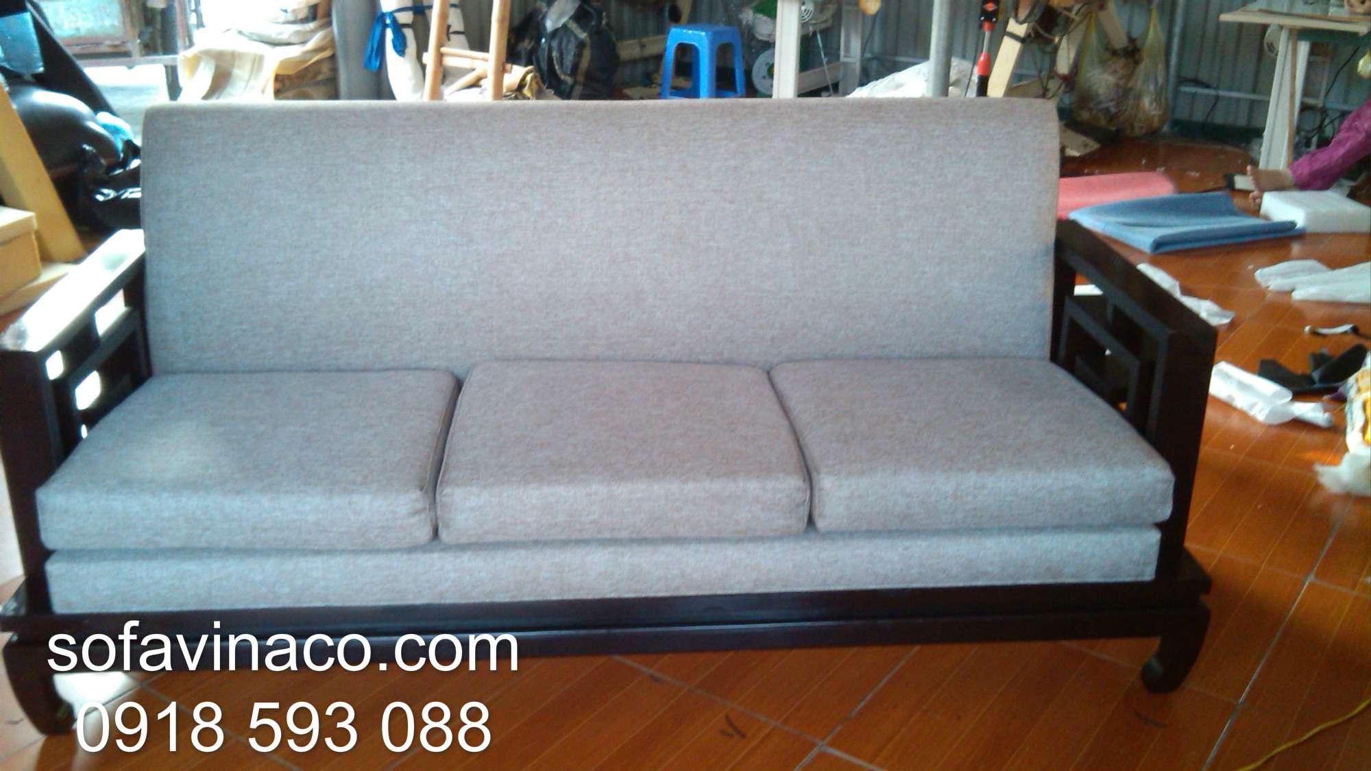 Bọc ghế sofa nhà Cô Dung-Chung Cư Ngoại Giao-Đoàn Xuân Đỉnh, Hà Nội