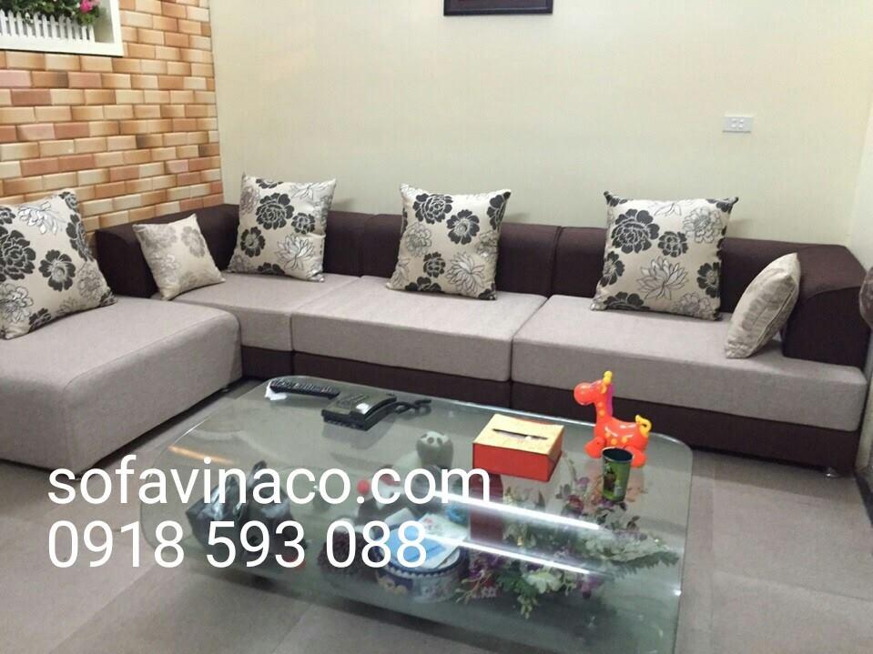 Bọc ghế sofa nhà cô Hoa tại đường Lạc Long Quân-quận Tây Hồ