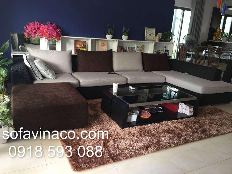 Bọc ghế sofa vải nỉ 01