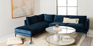Bọc ghế sofa với chất liệu nỉ nhung màu xanh thẫm
