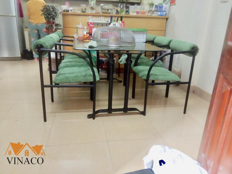 Bọc lại ghế ăn nhà chị Yến Hoàng - Linh Đàm - Hoàng Mai - HN