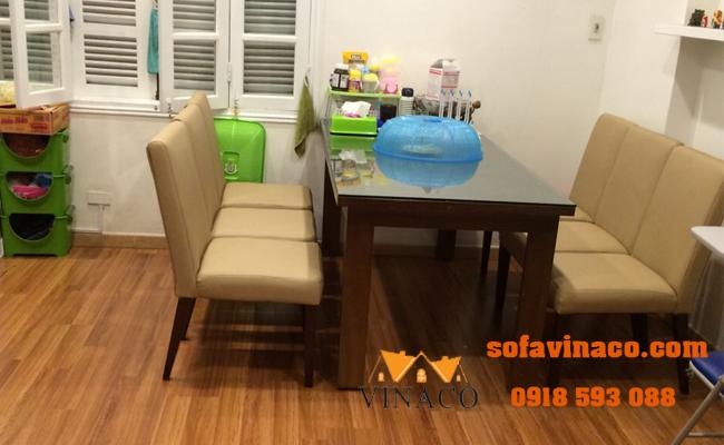 Bọc lại ghế ăn tại chị Trangphố Linh Lang, Ba Đình