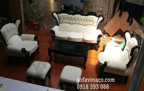 Bọc lại ghế sofa tân cổ điển giá rẻ